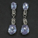 Lavender CZ Earrings (Taiwan)