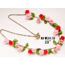 Polymer Clay Garden Series - Floral Necklace NFM3478 (Hong Kong)