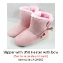 Slipper with USB Heater (with Bow) (Hong Kong)