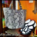 Snakeskin Handbag and Shoe (Indonesia)