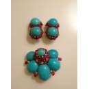 Marchak Paris 1960 Parure Brooch and Earrings  (Taiwan)