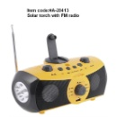 Solar Torch with FM Radio (Hong Kong)
