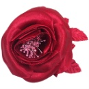 Satin Open Rose Corsage (Hong Kong)