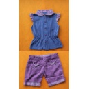 Girl 2 PC Set, Sleeveless With Fray Sleeve (Hong Kong)