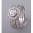 925 Sterling Silver Ring with Zircon (China)