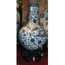 BLUE AND WHITE GLOBULAR VASE (Hong Kong)