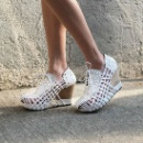 Ladies Woven Leather Wedges (Hong Kong)