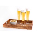 Acacia Wood Tray & Beer Glass (Hong Kong)