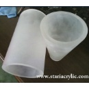 Frosted Oval Acrylic Tubing (China)