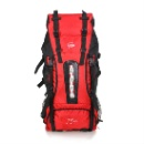 Hiking Backpack Thicken Watertight Fabric Zippered Compartments Adjustable Waist Belt Straps (China)