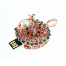 Jewelry Peacock 8G USB Pen Drive  (Hong Kong)