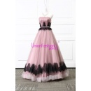 Black Lace Decoration And Purple Organza Fabric Type Layer Puffy Bridal Wedding Dress (Mainland China)