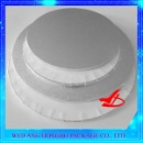 Silver Foil Edge Wrapped MDF Cake Board (China)