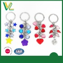 Crystal Dangle with Heart Star Flower Charms Key Chain (Hong Kong)