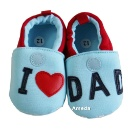 Baby Father's Day Boys I Love DAD Light Blue Shoes (Hong Kong)