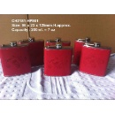 Stainless Steel PU Leatherette Cover Hip Flask (Hong Kong)