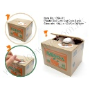 Plastic Box with Cat Coin Bank (Hong Kong)