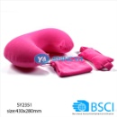 Flocking PVC Inflatable Travel Neck Pillow (Mainland China)