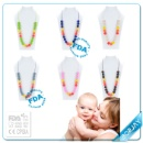 Best Selling Customized Silicone Necklace for Babies and Mom Fashion Design (Mainland China)