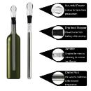 3-in-1 Stainless Steel Wine Bottle Cooler Stick (China)