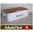Metal Bread Box With Bamboo Lid (China)