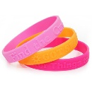 Cheap Price Reflective Silicone Bracelets (Mainland China)