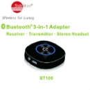 Sunitec 2-in-1 Bluetooth V4.0 FM Wireless Transmitter and Music Receiver with Stereo Output  (China)
