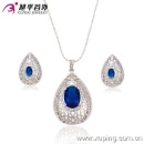 2016 Elegant Heart-Shaped Silver Fashion Gemstone Jewelry Set for Gifts or Party -63070 (China)