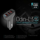Odin-L3 Expedite Car Charger with Triple USB Charging Ports (Hong Kong)