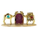 24K Gold Plated Two Camel with Photo Frame for Tableware (Hong Kong)