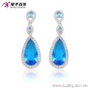 29910 Fashion Elegant Heart CZ Diamond Rhodium -Plated Imitation Jewelry Earring Drop (China)