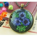 Real Flower Jewelry Necklace Pendant For Girls (Hong Kong)