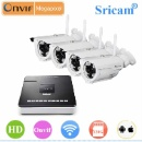 Sricam Onvif 720P HD IP Camera 4CH NVR kit Outdoor IR CUT 8 Channel Security Surveillance System IP  (Mainland China)