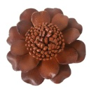 Leather Flower Brooch (Hong Kong)