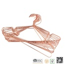 Rose Copper Gold Shiny Metal Wire Clothes Hangers (Taiwan)