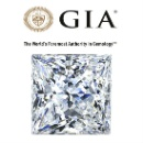GIA Certified 1.00Ct Princess Cut Real Natural Solitaire Diamond (India)