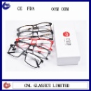 Thin Custom Optical Frames With Metal Bridge And Metal Temples For Unisex (Hong Kong)
