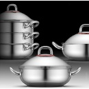 Stainless Steel Wok with Steamer (kong do hong)