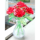 Six Roses with Vase 3D Crystal Puzzle (Hong Kong)