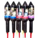 "1.5"" Assorted Rocket Fireworks (China)"