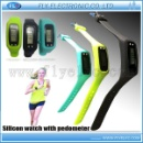 Hot Silicone Bracelet Watch With Pedometer (Mainland China)