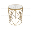 Kingsley Small Coffee Table and Side Table - Gold (Hong Kong)