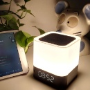 Night Light Table Lamp Portable Bluetooth Speaker with Alarm Clock and Color Change Mode (China)