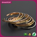 Jewelry Ladies Engraved Stainless Steel Cuff  Fancy Gold Bangle (Mainland China)