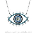 Evil Eye Cubic Zirconia Pendant Necklaces For Women (China)