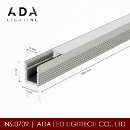 Small Alu Channel for Furniture With Flat Cover Led Aluminium Profile  (Hong Kong)
