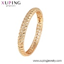 51880 Xuping Fashion Royal Bangle, Women Synthetic CZ Bangle, 18k Gold Color Plated Bangle (Mainland China)