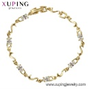 75064 Fashion Elegant Women Bracelet Jewelry, 14K Gold Plated Charm Bracelet (Mainland China)