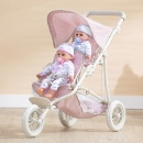 Polka Dots Princess Baby Doll Twin Jogging Stroller  (Hong Kong)
