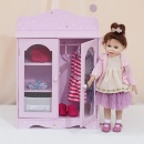 "Twinkle Stars Princess 18"" Doll Fancy Closet with 3 Hangers (Hong Kong)"